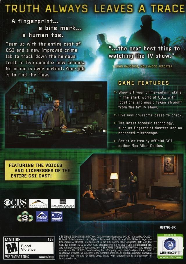 CSI: Dark Motives