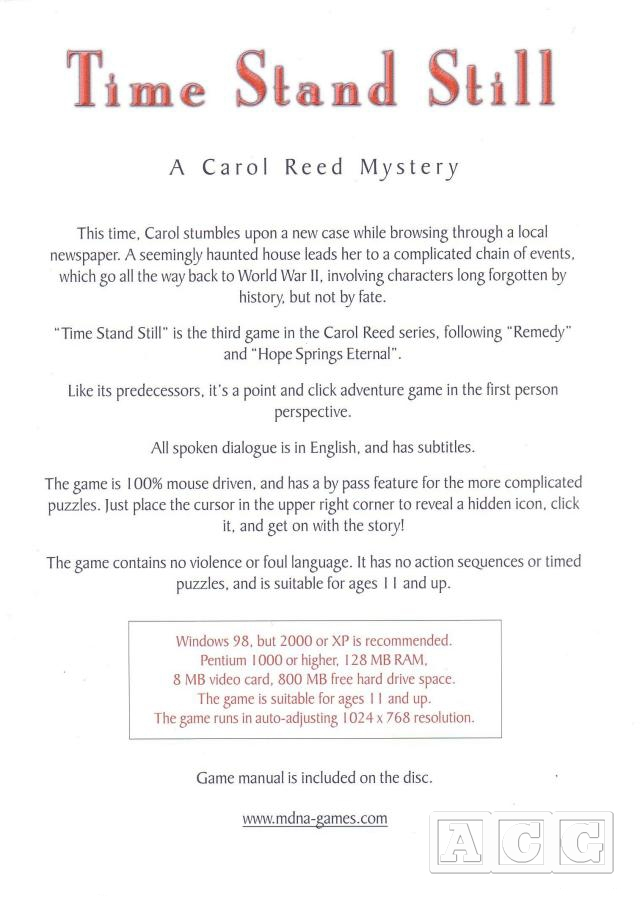 Time Stand Still: A Carol Reed Mystery - Gallery - Adventure