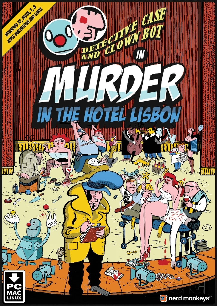 Detective Case and Clown Bot in Murder in the Hotel Lisbon